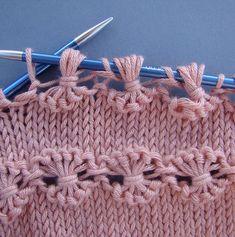 Knit Point of Flower Stitch Free Knitting Pattern+Video Baby Knitting Patterns, Knitting Stitches, Hand Knitting, Stitch Patterns, Crochet Patterns, Knitting Designs, Knitting Projects, Crochet Projects, Knit Fashion