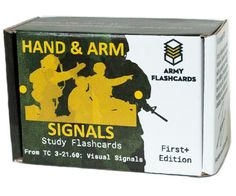 The Hand and Arm Signals flashcard deck is now available! 100 of the most important Visual Signals in the Army (you probably didn't even know there were Get yours today, and never say another word. Military Terms, Military Life, Study Flashcards, Ranger School, Study Cards, Online Quizzes, Rotc, Army Life, School Resources