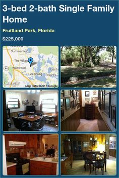 3-bed 2-bath Single Family Home in Fruitland Park, Florida ►$225,000 #PropertyForSale #RealEstate #Florida