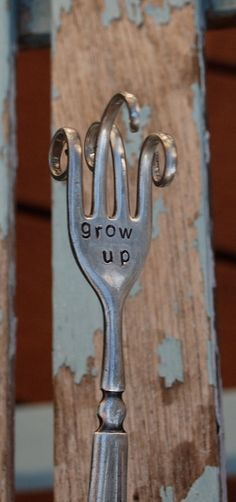 twisted fork garden art
