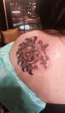 Sun moon tree tattoo pinterest moon tattoo and tatting for Grand rapids mi tattoo