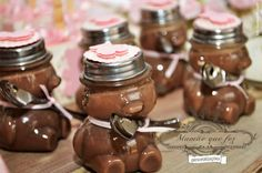 Pink teddy bear party- hot chocolate mix
