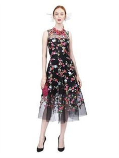 SLEEVELESS EMBROIDERED DRESS, $6,490.00