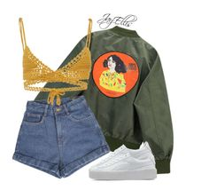 """Untitled #430"" by justice-ellis ❤ liked on Polyvore featuring Chicnova Fashion, SHE MADE ME and Puma"