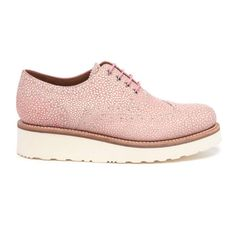 05f38d2a8126 Grenson Women s Emily Stingray Leather Brogues - Pink (1.977.455 IDR) ❤  liked on Polyvore featuring shoes