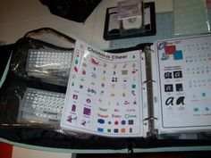cricut info book....lots of storage ideas