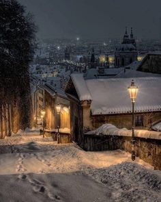 winter night in Prague. A winter night in Prague.A winter night in Prague. Winter Szenen, Winter Magic, Winter Christmas, Winter Walk, Merry Christmas, Hello Winter, Dress Winter, Winter White, Beautiful World