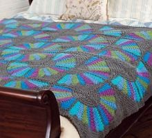 Quilt-Inspired Fan Throw