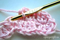 My Merry Messy Life: Photo Tutorial for the Crochet Shell Headband