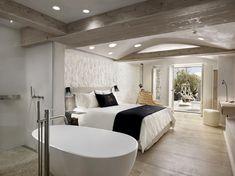 Уникальный «дизайнерский бутик-отель» Kenshō Boutique Hotel & Suites открыл свои двери не так давно на острове Миконос, Греция. Авторы проекта, архитекторы греческой компании CMH — Contemporary Mediterranean Housing