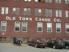 Old Town Canoe, Maine. We bought our canoe here and drove it back to California on top of our car. What were we thinking! Canoe Camping, Canoe And Kayak, Wonderful Places, Beautiful Places, Old Town Canoe, Bangor Maine, Visit Maine, Desert Island, Vacation Places