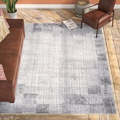 Wayfair Williston Forge Brooks Distressed Abstract Rug   Main Image Zoomed