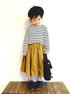 Mustard + black and white stripes = best fall girls outfit….ever Mustard + black and white stripes = best fall girls outfit…. Little Girl Outfits, Little Girl Fashion, Boy Outfits, Cute Outfits, Fashion Outfits, Fashion Clothes, Dress Clothes, Girl Clothing, Toddler Boy Fashion