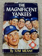 vintage NEW YORK YANKEES baseball book 1957 Magnificent Yankees HARDBACK/DJ