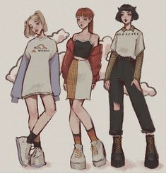 The powerpuff girls 💃 but they're somewhat grown ups . The powerpuff girls 💃 but they're somewhat grown Art Drawings Sketches, Cartoon Drawings, Cartoon Art Styles, Cartoon Girl Drawing, Powerpuff Girls, Equestria Girls, Arte Copic, Arte Do Kawaii, Kleidung Design