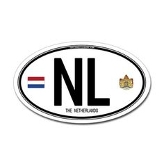 Netherlands car bumper ID decal before the European Union.  We have these on our bumpers, now!