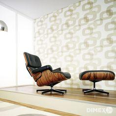 Reach more comfort through retro wallpapers - Decoration Solutions Wallpaper Decor, Retro Wallpaper, Design Retro, Living Spaces, Living Room, Living Walls, Modern Retro, Wall Design, Stencil