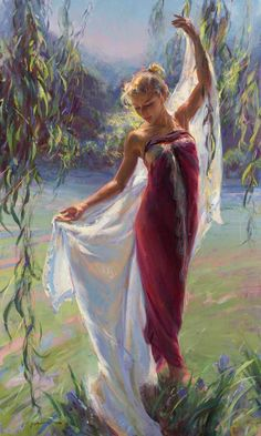 Dan Gerhartz is known for his romantic, touching oil paintings of people. fine art for the home, romantic paintings, original fine art, original oil paintings, art by Dan Gerhartz, home decor, paintings of people, women in art