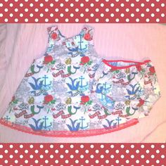 Pinup baby girl romper and diaper cover #sailorjerry #tattoo #missareyl www.missareyl.etsy.com