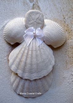 Seashell Crafts to Make | Seashell Angel Crafts | Seashells and ... | I Want to Make This!!!