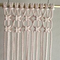 diy macramé, tuto rideau not in English but good demosHow to Tie Macrame KnotsMacrame technique using tshirt strips.Wall panels handmade macramé tNew Best Creative Ideas for Making Painted Rock Painting reasons you should be scrapbooking che Macrame Wall Hanging Diy, Macrame Curtain, Macrame Plant Hangers, Macrame Art, Macrame Projects, How To Macrame, Driftwood Macrame, Art Macramé, Macrame Chairs