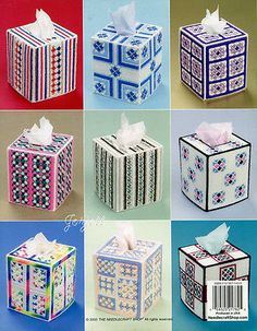 Mosaic-Tissue-Covers-9-Boutique-Tissue-Box-Covers-plastic-canvas-patterns