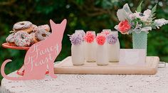 "Amorology created an amazing cat baby shower that is perfect for all you kitten lovers out there! The ""Cat's Cradle"" theme is purrfect for this mommy to be!"