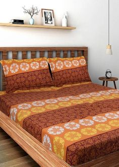 Bombay Dyeing Cotton Geometric Double Bedsheet