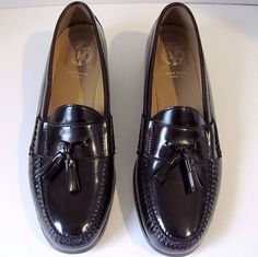 COLE HAAN Shoes Burgundy Pinch Grand Tassel Loafers Size 12 M Retail $170, NEW #ColeHaan #LoafersSlipOns