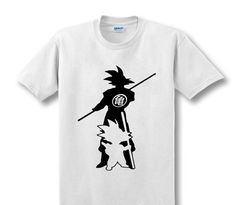 Kid and Grown Up Son Goku Cotton shirt - GeoDapper