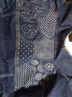 Best 11 Olympus Sashiko Fabric – Sashiko Placemat Kit 166 – Seven Treasures – Navy – Japanese Embroidery – DiyForYou – SkillOfKing. Embroidery Flowers Pattern, Embroidery Patterns Free, Hand Embroidery Designs, Embroidery Stitches, Diy Embroidery, Embroidered Flowers, Embroidery Books, Embroidered Silk, Embroidery On Denim
