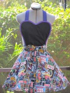 Star Wars  Pin Up  Heart Shaped Apron by AquamarCouture on Etsy