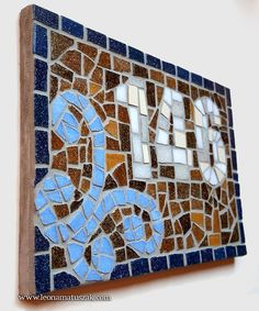 Etsy :: Your place to buy and sell all things handmade Door Numbers, House Numbers, Letters And Numbers, Ceramic Mosaic Tile, Beach Signs, Love Signs, Anniversary Gifts, House Warming, New Homes