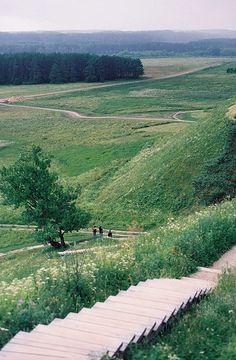 kernave hills, lithuania
