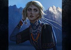 --- by arnaerr on DeviantArt Fantasy Portraits, Character Portraits, Character Art, Character Ideas, Fantasy Concept Art, Fantasy Art, Dnd Characters, Fantasy Characters, Dnd Art