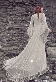Items similar to Narnia Style Victoria Velvet and Lace Fantasy Medieval Fairy Wedding Gown Custom on Etsy Fairytale Fashion, Fairytale Dress, Fairy Dress, Renaissance Wedding, Fantasy Wedding, Dream Wedding, Medieval Dress, Glamour, Victoria