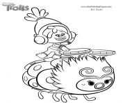 Print smallest troll smidge coloring pages troll party for Trolls smidge coloring page