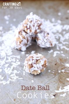 Delicious Date Ball Cookie Recipe from Crafting E