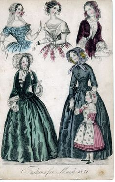 1850 Fashion | Fashions for March 1851
