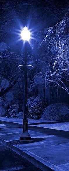 Winter Lamp Post Blues by John Stephens
