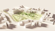 Chambery low-poly - Part I: Parc du Verney on Behance