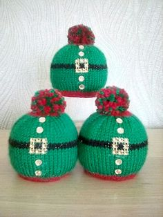 Crazy How to Knit -Amigurumi Knitted Christmas Decorations, Crochet Christmas Hats, Christmas Knitting Patterns, Baby Knitting Patterns, Free Knitting, Knitting Projects, Crochet Projects, Christmas Fair Ideas, Crochet Wool