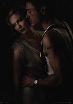 "Kirsten Dunst and Robert Downey Jr. in ""Killers Kill, Dead Men Die"", photographed byAnnie Leibovitz for Vanity Fair, March 2007."