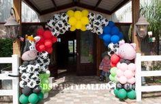 farm party decoration balloons - Buscar con Google