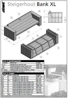 Afbeeldingsresultaat voor steigerhouten bank bouwen