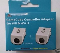 Brand New Supports Mario cart and Smash Bros Contains 2 adapters 1. Connect two…