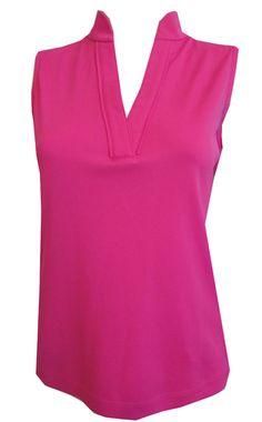 Rio mar white multi ep pro ladies plus size sleeveless for Plus size sleeveless golf shirts