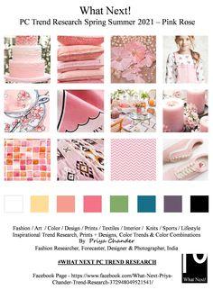 #Pinkrose #rosepink #SS2021 #WhatNextPCTrendResearch #PriyaChanderDesigns #FashionForecastByPriyaChander #ColorTrendsByPriyaChander #fashionconsultant #fashiondesigner #springsummer2021 #fashionforecaster #fabricprints #interiordecor #fashionforecastspringsummer2021 #interiors #homedecor #InteriordesignTrends #knitwear #hautecouture #fashionweekSS2021 #colortrendsSS2021 #fashionforecast #fashion #art #design #fashionresearch #fashionforecasting #sportswear #wallart #folkart… 2020 Fashion Trends, Spring Fashion Trends, Trend Council, Fashion Forecasting, Colorful Fashion, Retro Fashion, Colour Board, Fashion Fabric, Spring Colors