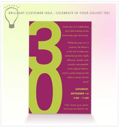 Free Printable 30th Birthday Party Invitation Templates | Party ...