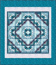 """""""Bright Star"""" quilt pattern designed by Elisa's Backporch Design. Star Quilt Patterns, Star Quilts, Pattern Blocks, Quilt Blocks, Star Blocks, Medallion Quilt, Log Cabin Quilts, Green Quilt, Quilting Designs"""